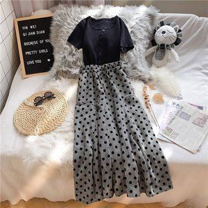 The floral black French dress